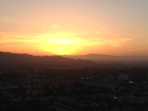 Sunset Over the San Gabriel Mountains